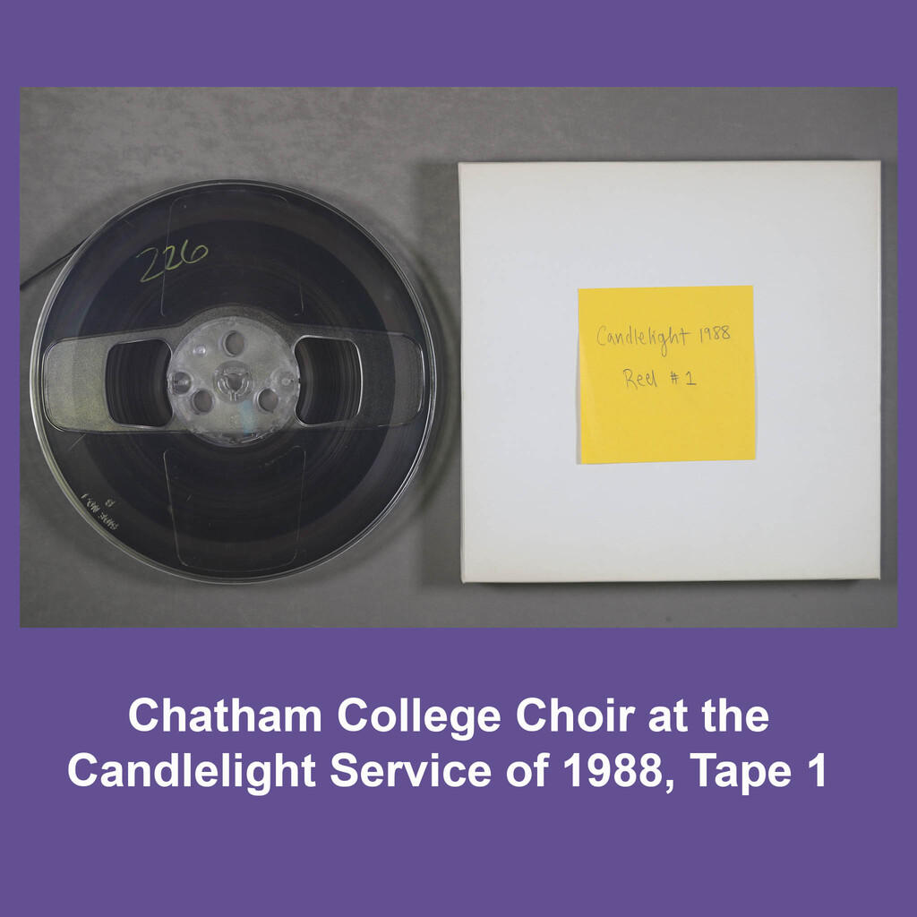 Chatham Choir at Candlelight Service in 1988, Tape 1